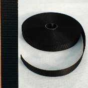 "1"" BLACK NYLON WEBBING"