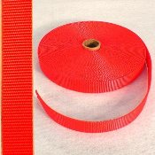 "1"" FLAME ORANGE NYLON WEBBING"