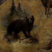 GREENWOOD BEAR WILDLIFE TAPESTRY