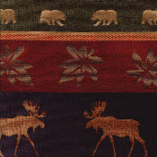 YOSEMITE MOOSE & BEAR WILDLIFE FABRIC