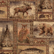 YELLOWSTONE WILDLIFE TAPESTRY