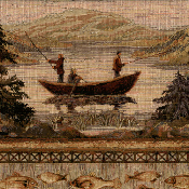 FISHING BOAT TAPESTRY FABRIC