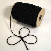 "3/16"" BLACK ELASTIC SHOCK CORD"