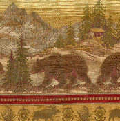 BEAR RUN WILDLIFE TAPESTRY