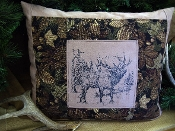 ELK SUEDE DECORATOR PILLOW