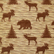 DENALI CHOCOLATE WILDLIFE FABRIC