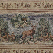 TAMARACK DEER WILDLIFE TAPESTRY