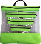 LIME 4 PC. SEEYOURSTUFF BAG SET
