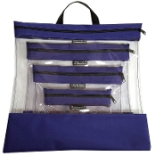 PURPLE 4 PC. SEEYOURSTUFF BAG SET