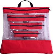 RED 4 PC. SEEYOURSTUFF BAG SET