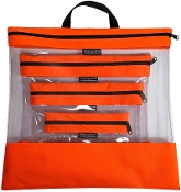 TANGERINE 4 PC. SEEYOURSTUFF BAG SET
