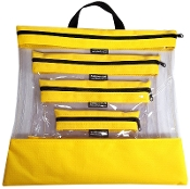 YELLOW 4 PC. SEEYOURSTUFF BAG SET