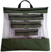 OLIVE 4 PC. SEEYOURSTUFF BAG SET
