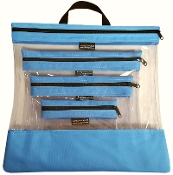 LT BLUE 4 PC. SEEYOURSTUFF BAG SET