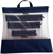 NAVY 4 PC. SEEYOURSTUFF BAG SET