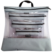 GREY 4 PC. SEEYOURSTUFF BAG SET